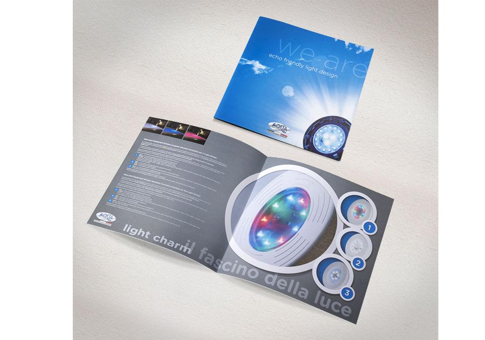 Aqua illuminazione folder quadrati