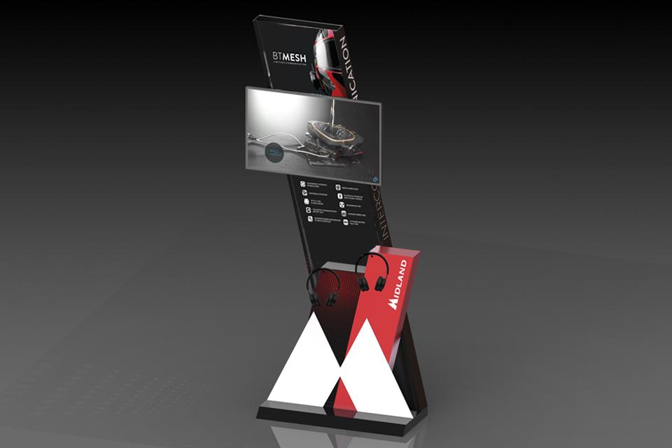 P.o.p. elemento espositivo negozio tech per interfono Bt Mesh Midland