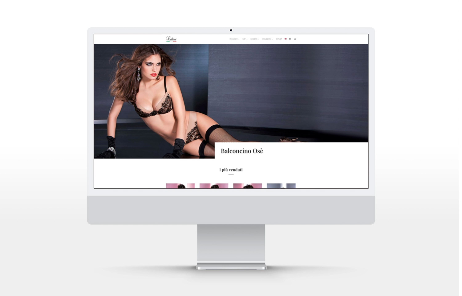 Panoramica homepage ecommerce shop Leilieve intimo donna
