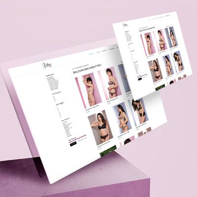 Sito internet ecommerce shop Leilieve intimo donna